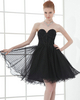 A-line Strapless Short Tulle Sequin Beading Cocktail Dresses