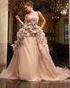 Luxurious Ball Gown Chiffon Chapel Train Sashes Wedding Dresses