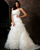 Magnificent Mermaid Tulle Sweetheart Chapel Train Sequin Wedding Dresses