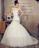 Fantasy Mermaid Stretch Satin Chapel Train Crystal Wedding Dresses
