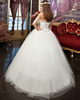 Glamorous Ball Gown Tulle Floor-length Crystal Wedding Dresses