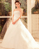 Happiness Promise A-Line Tulle Strapless Tube Top Chapel Train Beading Wedding Dresses