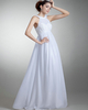 Column Bateau Floor-length Chiffon Beading Sequin Wedding Dresses