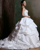 Sparkly Ball Gown Taffeta Sweetheart Court Train Pick- Ups Wedding Dresses with Rhinestones and Crystals Size 2 And Size 4