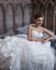 Glamorous Princess Taffeta Sweetheart Sweep Train Pick-Ups Lace Wedding Dresses