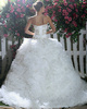 Voluminous Royal Ball Gown Tulle Sweetheart Beading Sweep Train Ruffles Wedding Dresses Size 2 And Size 4