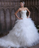 Voluminous Ball Gown Tulle Sweetheart Sweep Train Ruffles Wedding Dresses