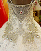 Ball Gown Scoop Jewelry Straps Court Train Lace Semi Transparent Back Wedding Dresses