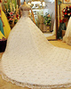 Ball Gown Sweetheart Chapel Train Lace Rhinestone Wedding Dresses