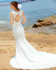 Mermaid Round Brought Court Train Lace Open Back Wedding Dresses