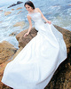 Mermaid One Shoulder Chapel Train Lace Beading Wedding Dresses