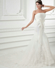 Mermaid Tube Top Strapless Court Train Sashes Lace Wedding Dresses