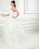 A-line Sweetheart Brush Train Organza Sequin Beading Wedding Dresses