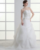 Over Hip Tube Top Sweep Organza Appliques Pick-Ups Wedding Dresses