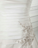 Over Hip Straps Court Train Satin Beading Sequin Wedding Dresses