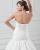 A-line Straps Court Train Taffeta Beading Appliques Wedding Dresses
