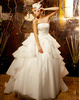 Ball Gown Tube Top Tiered Court Train Tulle Sequin Wedding Dresses