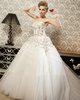 Princess Tube Top Court Train Tulle Appliques Wedding Dresses