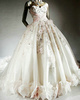 Ball Gown Sweetheart Court Train Tulle Rhinestone Wedding Dresses With Flowers