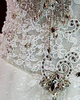 A-line Scoop Chapel Train Tulle Lace Crystals And Rhinestones Wedding Dresses