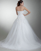 Ball Gown Scalloped-edge Brush Train Tulle Crystal Wedding Dresses