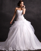 Over Hip Strapless Court Train Tulle Beading Lace Wedding Dresses