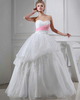 Gown Color Gray Ball Gown Sweetheart Floor-length Organza Crystal Wedding Dresses
