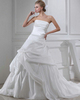 Gown Color Gray Over Hip Tube Top Court Train Stretch Satin Pick-Ups Wedding Dresses