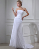 Over Hip Tube Top Strapless Brush Train Lace Wedding Dresses
