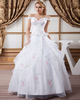 Ball Gown Off-the-shoulder Floor-length Organza Crystal Wedding Dresses