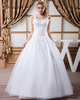 Ball Gown Straps Floor-length Organza Beading Sequin Wedding Dresses