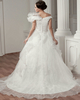 Ball Gown Off-the-shoulder Brush Train Organza Tiered Wedding Dresses