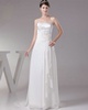 Column Tube Top Brush Train Chiffon Appliques Wedding Dresses