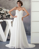 Western Saloon Girl Style Wedding Dresses A-line Sweetheart Brush Train Chiffon Crystal Sequin Wedding Dresses