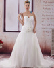 Over Hip Sweetheart Brush Train Tulle Beading Flower Wedding Dresses