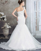Mermaid One Shoulder Sweep Organza Flower Sequin Wedding Dresses