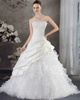Princess Tube Top Sweep Organza Beading Sequin Ruffle Wedding Dresses