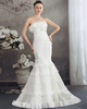 Mermaid Tube Top Brush Train Bowknot Lace Wedding Dresses