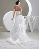 Princess Halter Brush Train Taffeta Sequin Lace Wedding Dresses