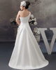 A-line One Shoulder Brush Train Satin Sequin Side-draped Wedding Dresses