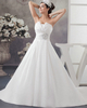 Gown Color Gray A-line Strapless Brush Train Satin Crystal Sequin Wedding Dresses