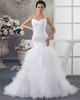 Gown Color Gray Mermaid Straps Brush Train Tulle Beading Sequin Wedding Dresses