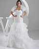 Gown Color Gray Mermaid Sweetheart Brush Train Organza Short Sleeve Ruffle Wedding Dresses With Jacket