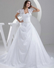 Gown Color Gray A-line Sweetheart Court Train Taffeta Short Sleeve Sequin Wedding Dresses With Lace Jacket