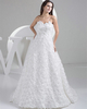 Gown Color Gray A-line Strapless Sweetheart Brush Train Flower Lace Wedding Dresses