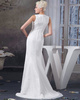 Mermaid Bateau Brush Train Lace Wedding Dresses