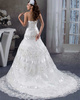 Over Hip Tube Top Court Train Embroidery Crystal Lace Wedding Dresses