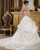 Ball Gown Sweetheart Court Train Satin Embroidery Wedding Dresses With Pick-Ups