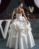 Princess Strapless Floor-length Satin Pick-Ups Wedding Dresses