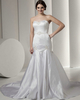 Mermaid Strapless Court Train Satin Beading Sequin Wedding Dresses